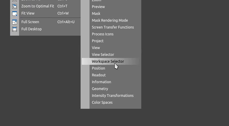 Tool Bar - Workspace Selector